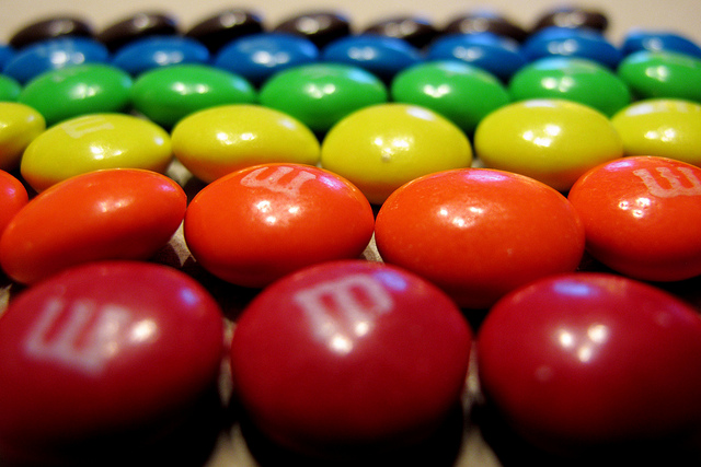 M&Ms Sorted by Color by Mr. T in DC on Flickr