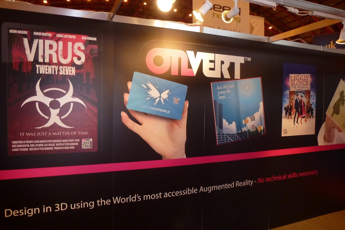 The onvert stand at Internet World Expo 2012