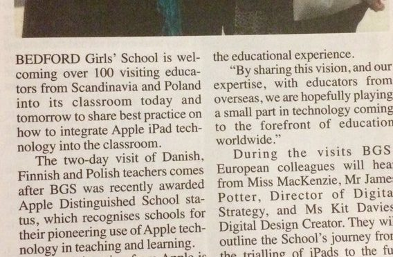 More Apple Distinguished School Press