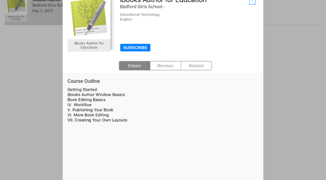 #ClassroomClips – iBooks Author