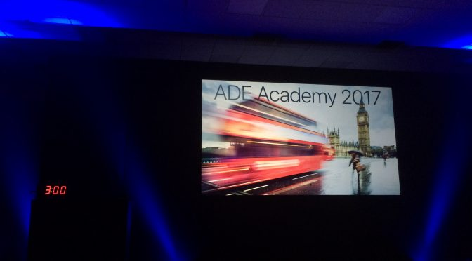 Final Day of ADE Academy 2017 UK